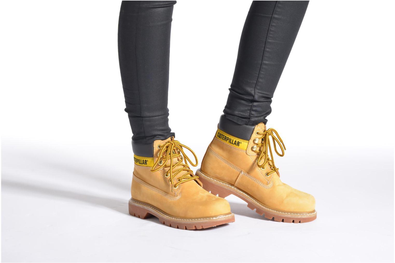 Bottines et boots Caterpillar COLORADO W Noir vue bas / vue portée sac