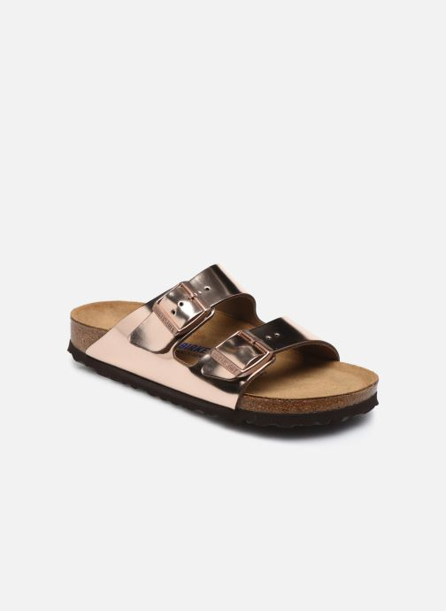 Mules & clogs Birkenstock Arizona Cuir W Bronze and Gold detailed view/ Pair view
