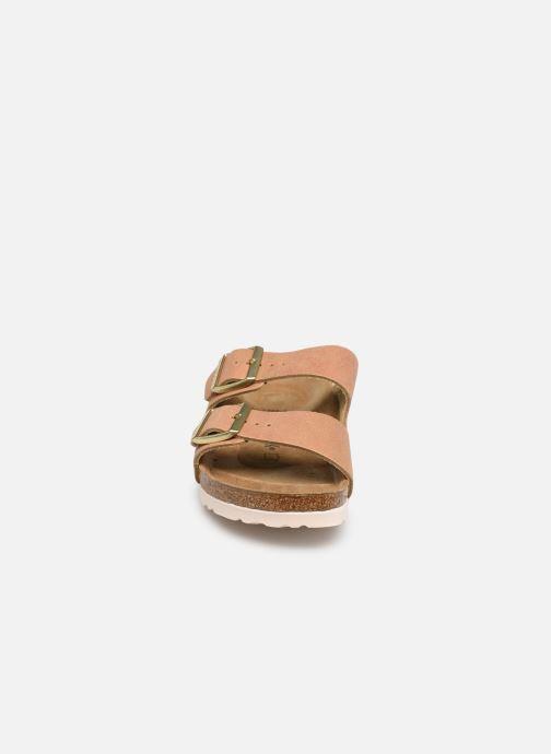 Mules et sabots Birkenstock Arizona Cuir W Orange vue portées chaussures