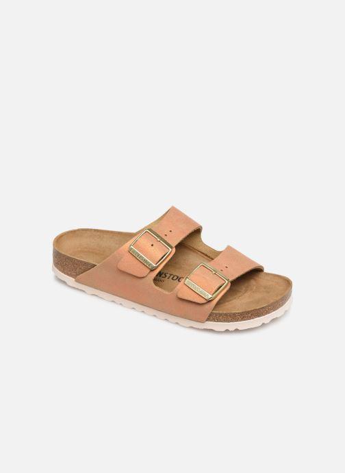 Clogs og træsko Birkenstock Arizona Cuir W (Smal model) Orange detaljeret billede af skoene
