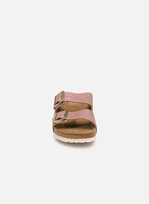 Clogs & Pantoletten Birkenstock Arizona Cuir W rosa schuhe getragen