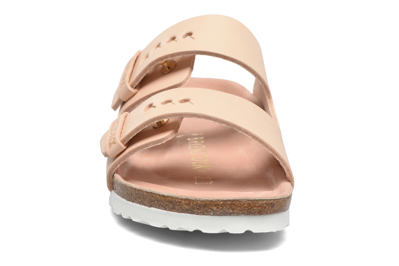 Clogs og træsko Birkenstock Arizona Cuir W (Smal model) Beige se skoene på