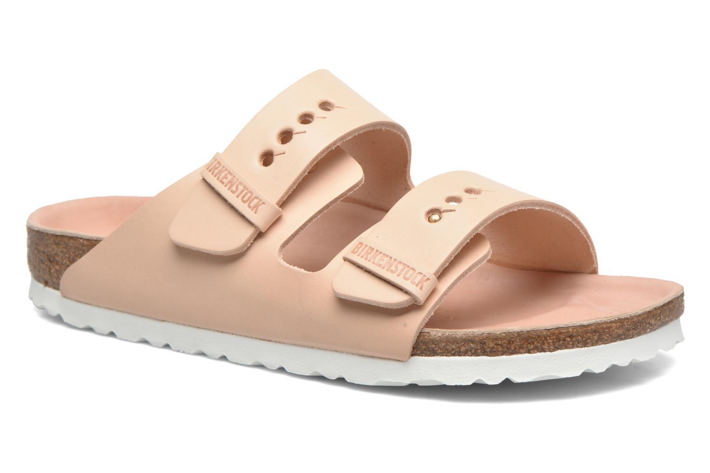 Clogs og træsko Birkenstock Arizona Cuir W (Smal model) Beige detaljeret billede af skoene