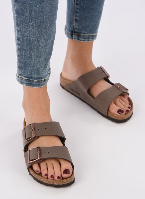 Mules & clogs Birkenstock Arizona Flor W Brown view from underneath / model view