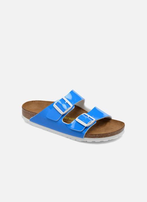 Clogs & Pantoletten Birkenstock Arizona Flor W blau detaillierte ansicht/modell