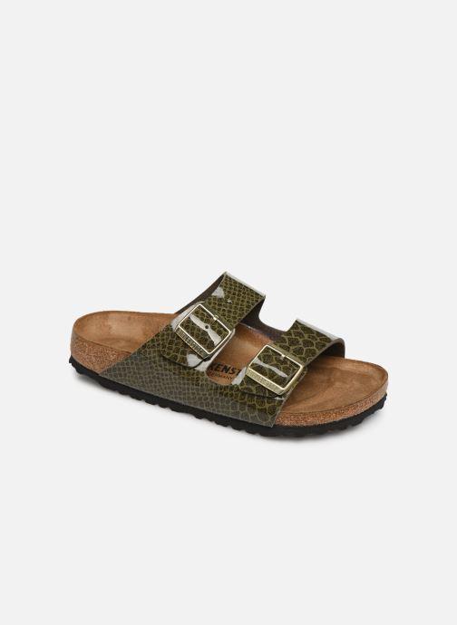 Clogs og træsko Birkenstock Arizona Flor W (Smal model) Grøn detaljeret billede af skoene