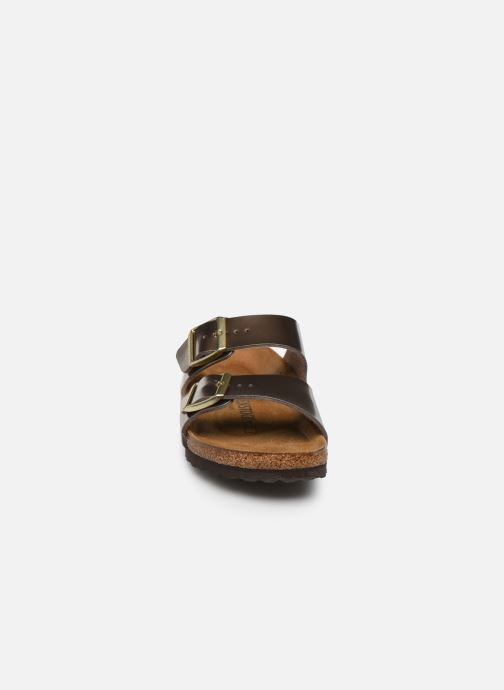 Clogs og træsko Birkenstock Arizona Flor W (Smal model) Guld og bronze se skoene på