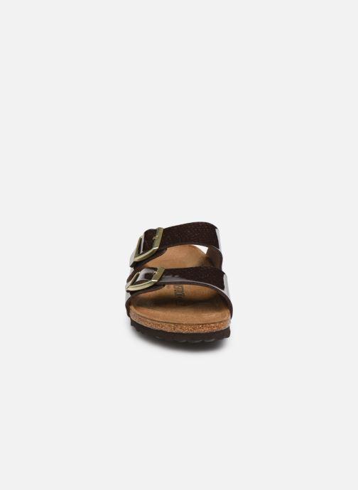 Mules et sabots Birkenstock Arizona Flor W Marron vue portées chaussures