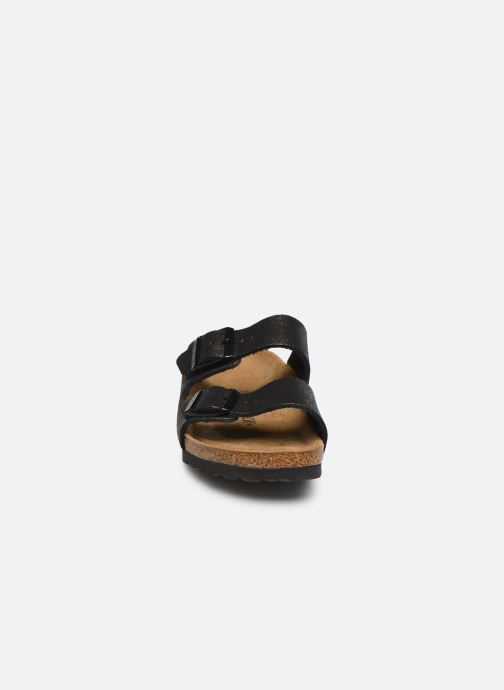 Mules et sabots Birkenstock Arizona Flor W Noir vue portées chaussures