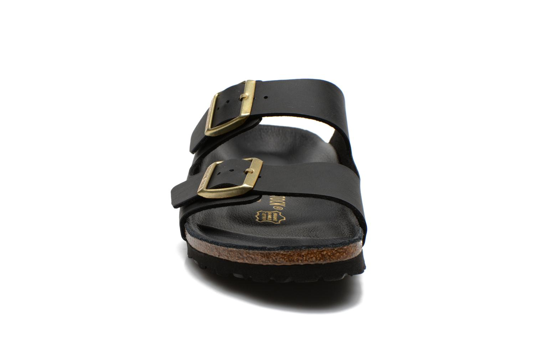 Clogs & Pantoletten Birkenstock Arizona Flor W schwarz schuhe getragen