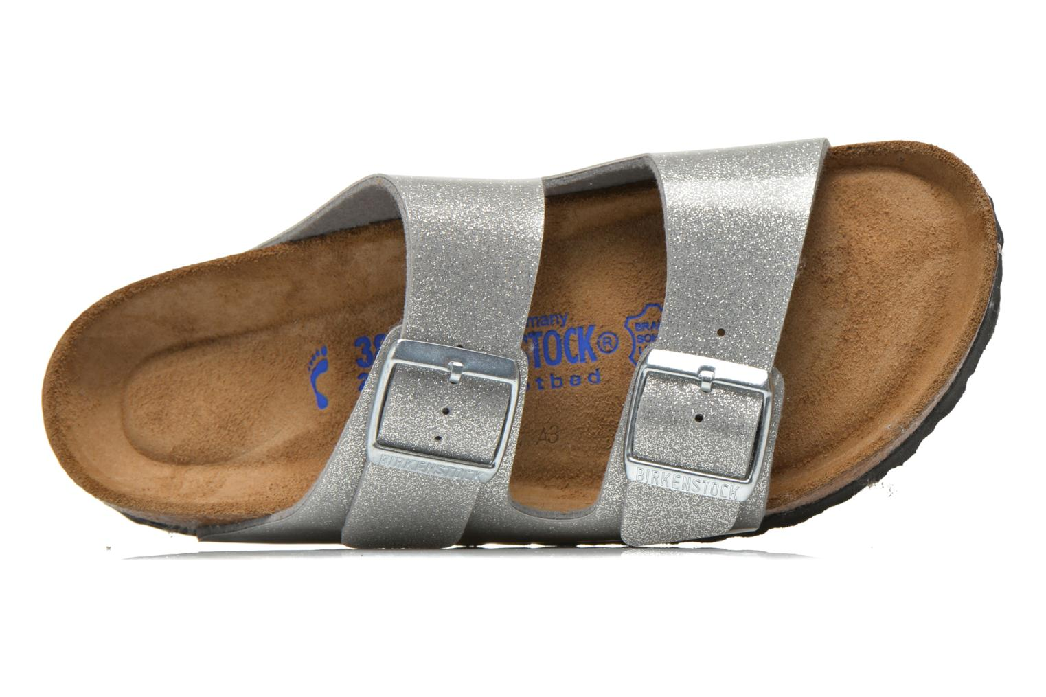 Mules & clogs Birkenstock Arizona Flor W Silver view from the left