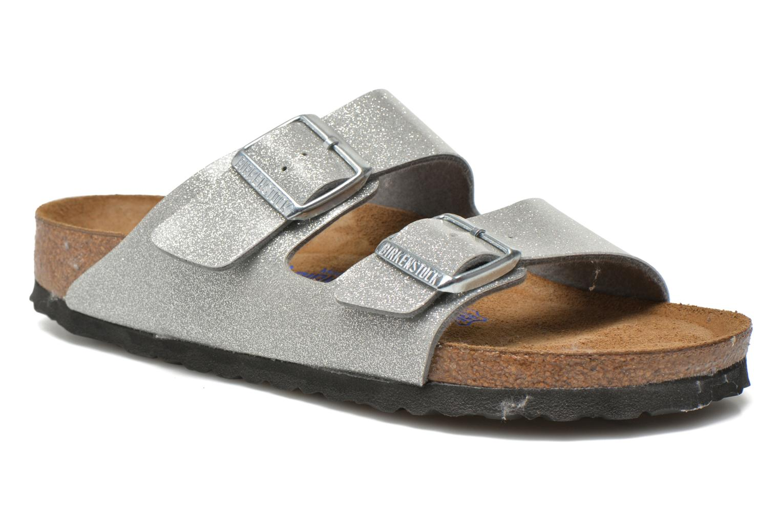 Mules & clogs Birkenstock Arizona Flor W Silver detailed view/ Pair view