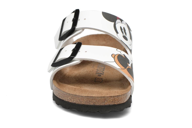 Clogs & Pantoletten Birkenstock Arizona Flor W weiß schuhe getragen