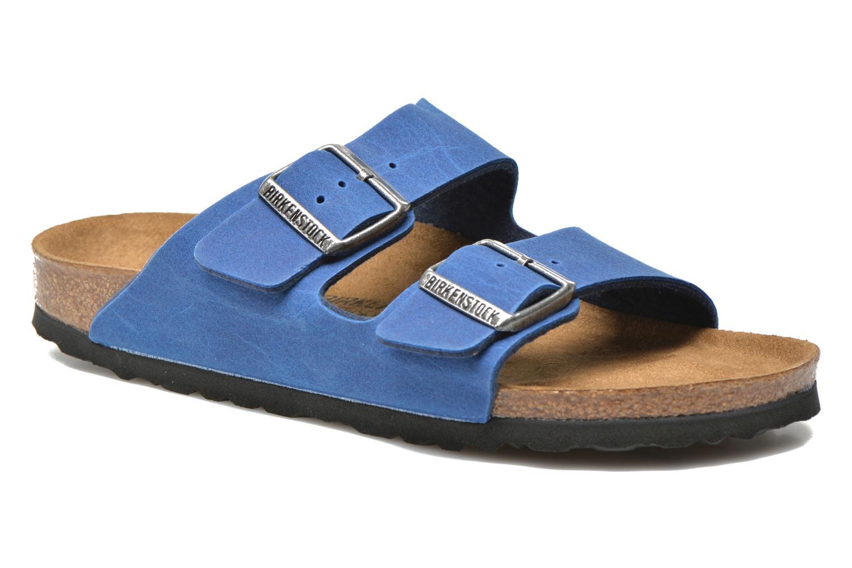 Mules et sabots Birkenstock Arizona Flor W Bleu vue détail/paire