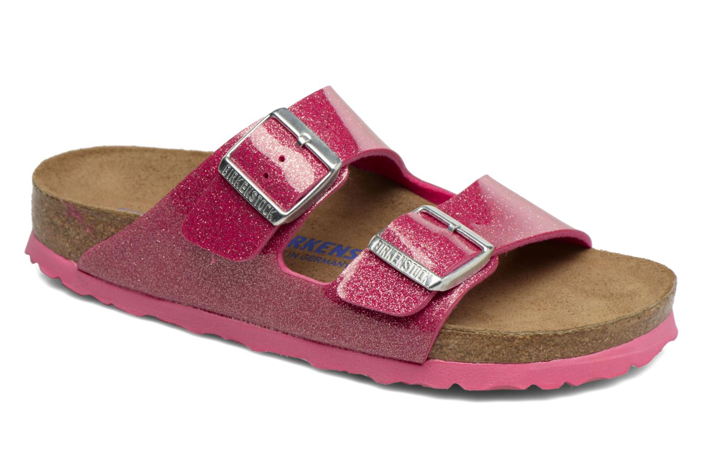 Clogs & Pantoletten Birkenstock Arizona Flor W rosa detaillierte ansicht/modell