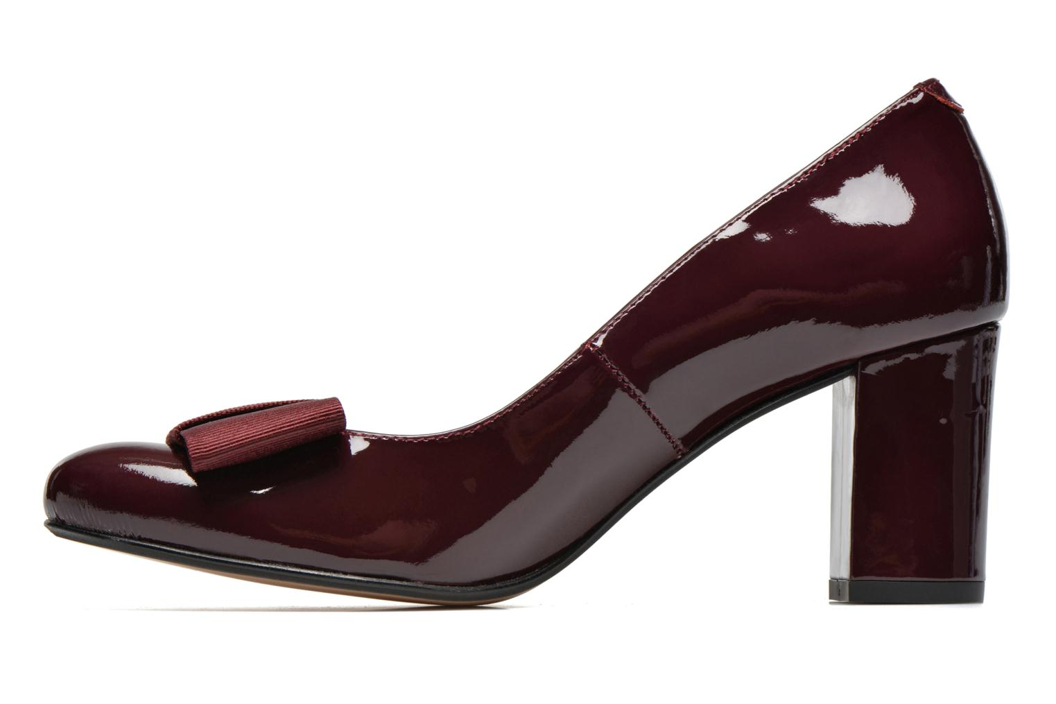 High heels Georgia Rose Santoora Burgundy front view