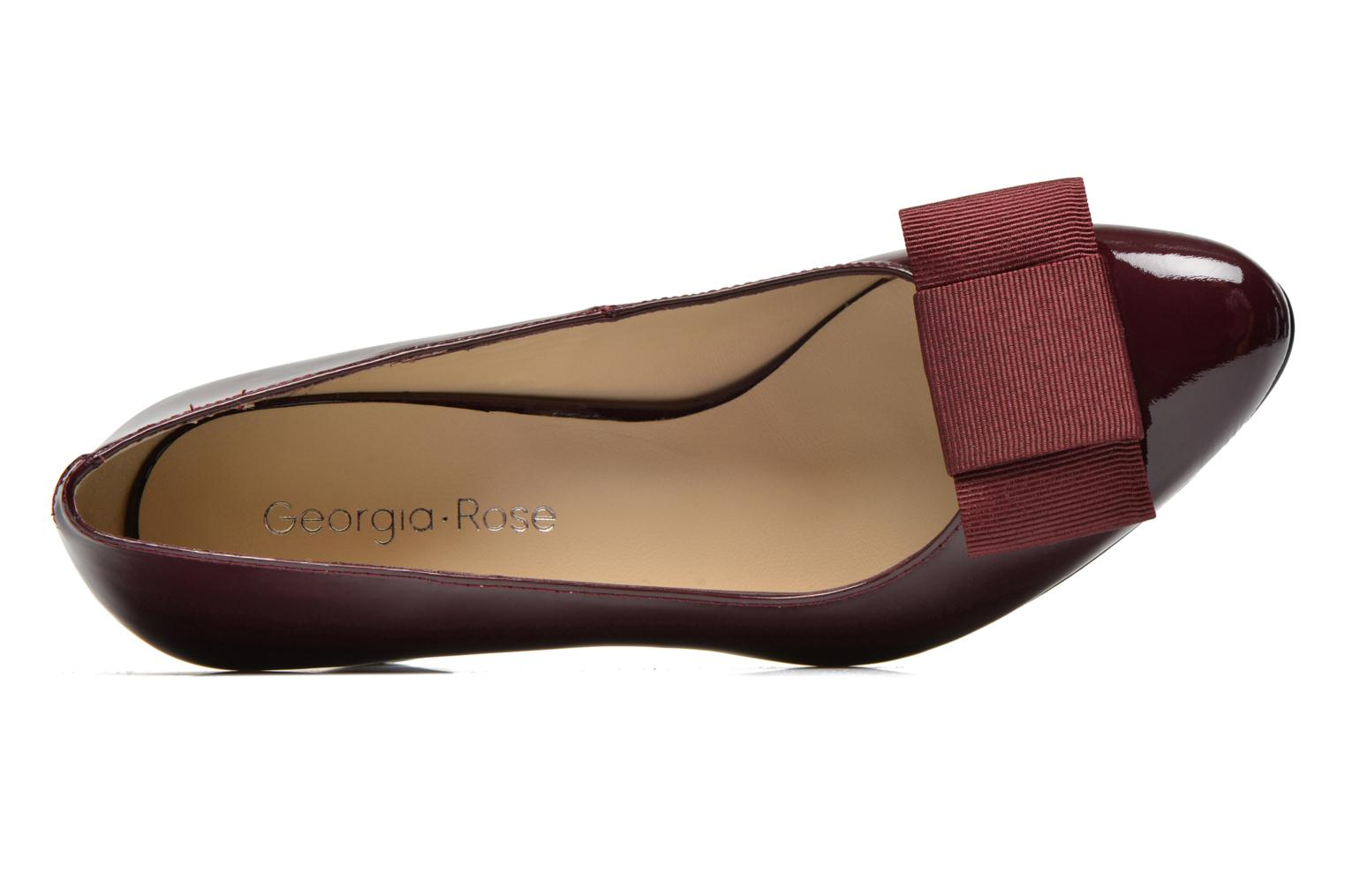 Pumps Georgia Rose Santoora weinrot ansicht von links