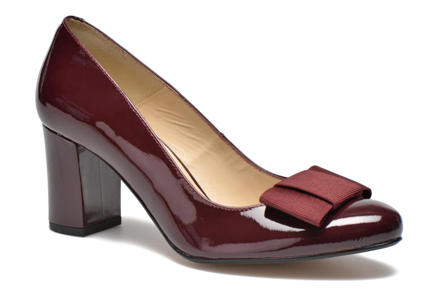 High heels Georgia Rose Santoora Burgundy detailed view/ Pair view