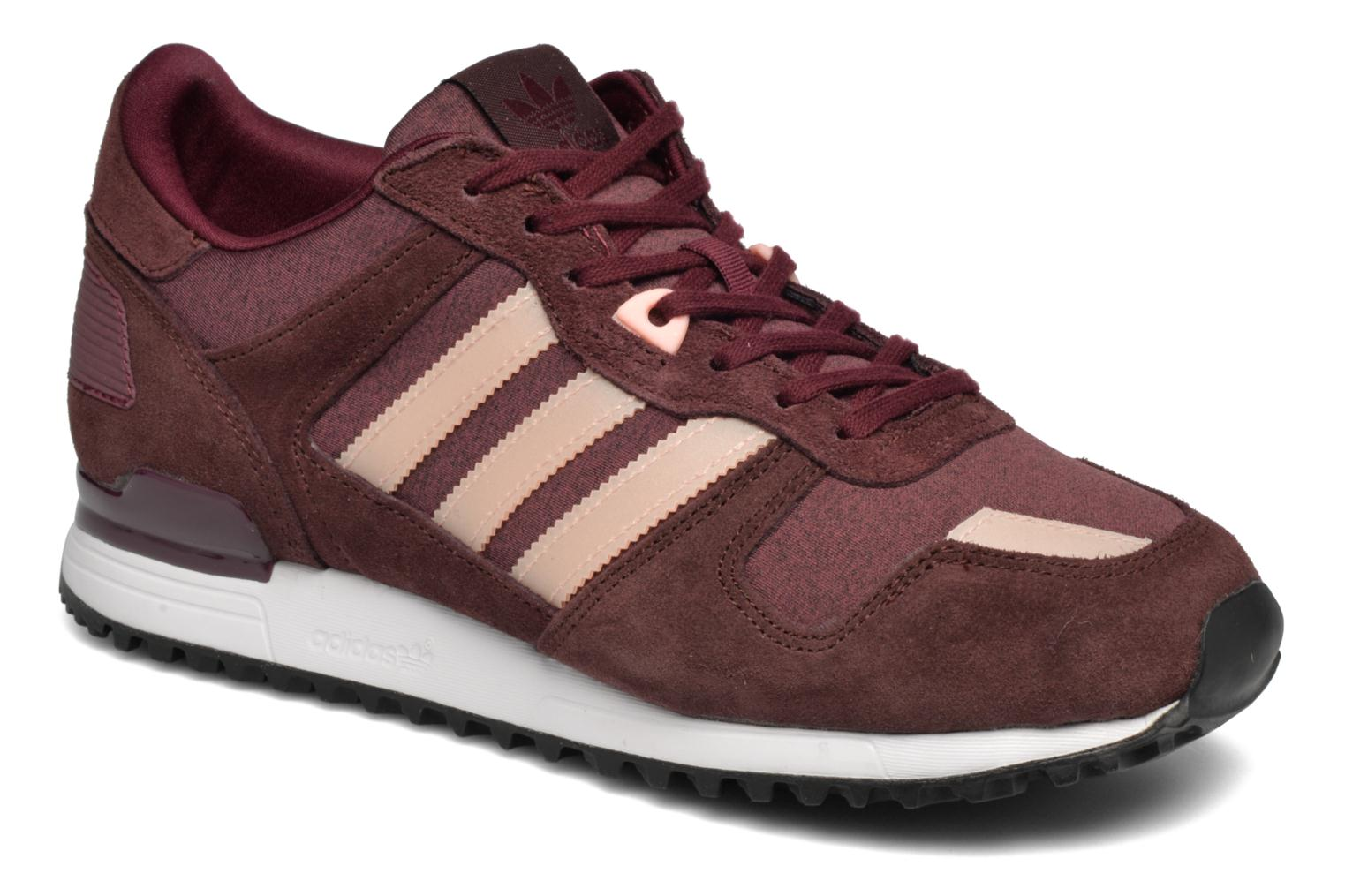 Trainers Adidas Originals Zx 700 W Burgundy detailed view/ Pair view