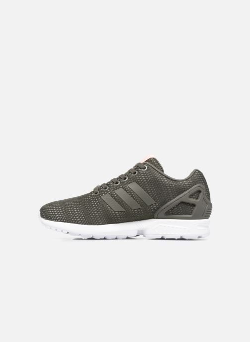 Trainers adidas originals Zx Flux W Green front view