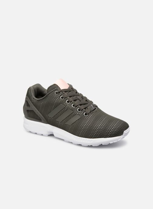 Trainers adidas originals Zx Flux W Green detailed view/ Pair view