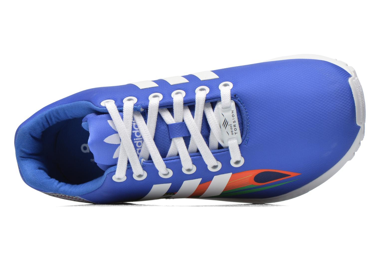 Baskets Adidas Originals Zx Flux W Bleu vue gauche