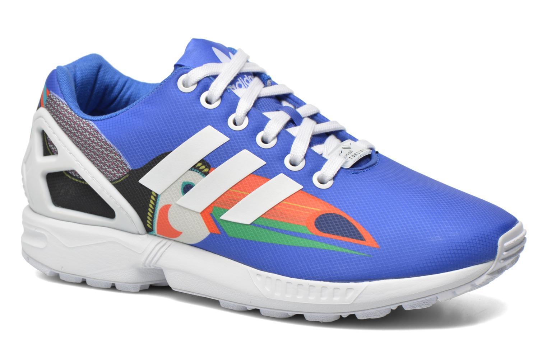 Baskets Adidas Originals Zx Flux W Bleu vue détail/paire