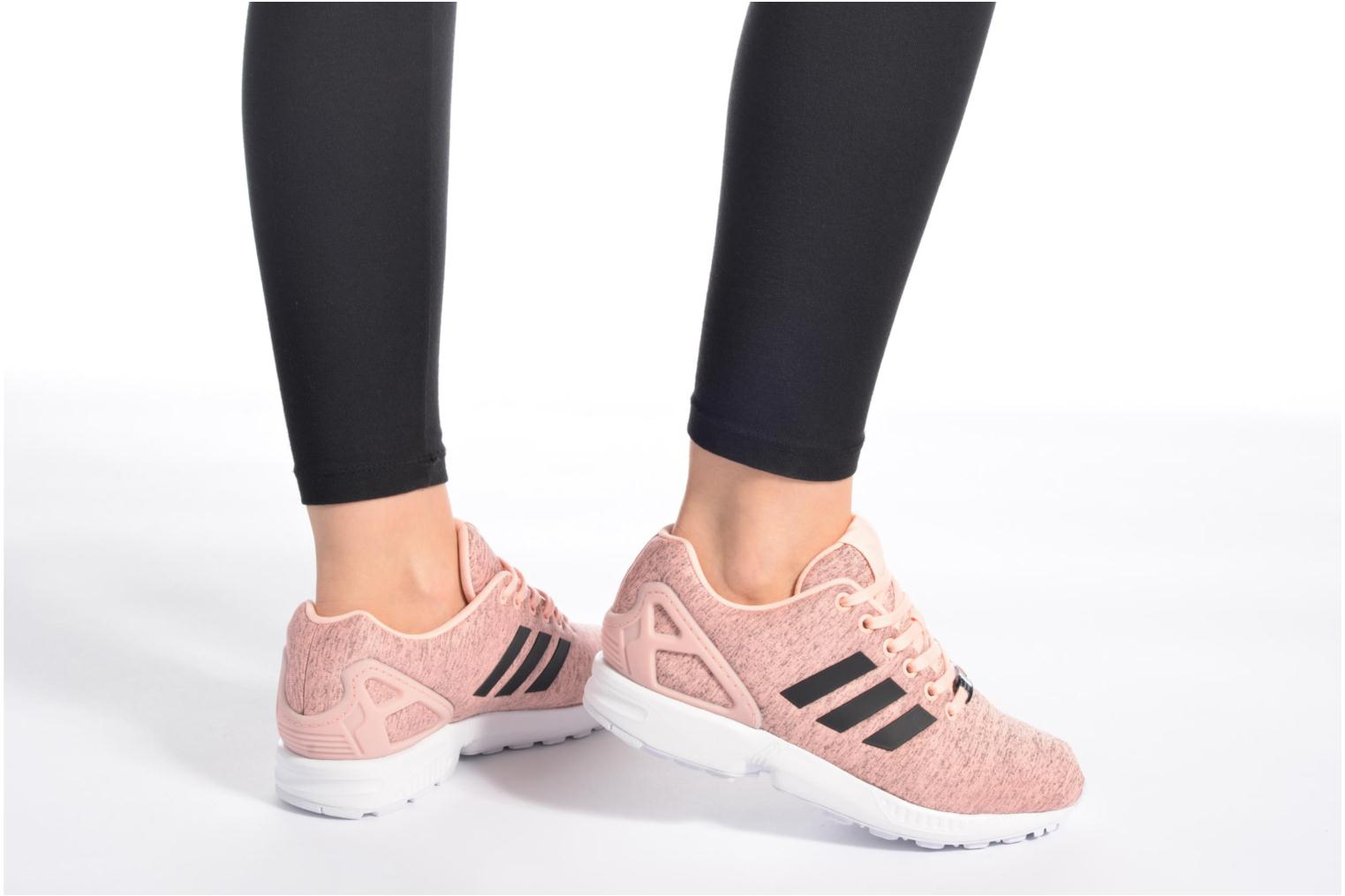 Baskets Adidas Originals Zx Flux W Rose vue bas / vue portée sac