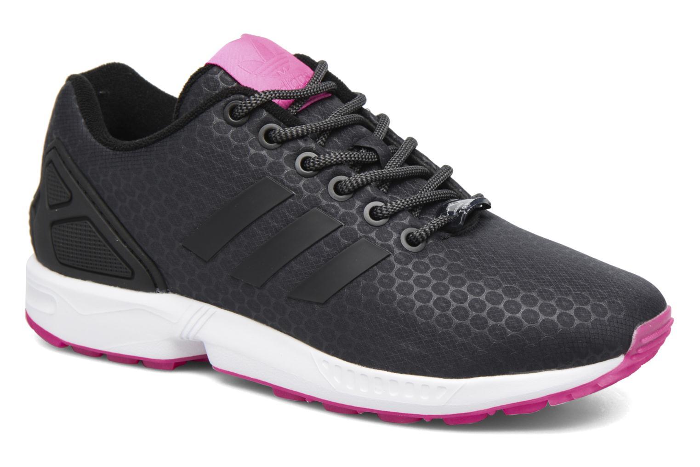promo code 8c7e6 f2648 sale adidas originals zx flux noir print baskets f3c41 c26dd