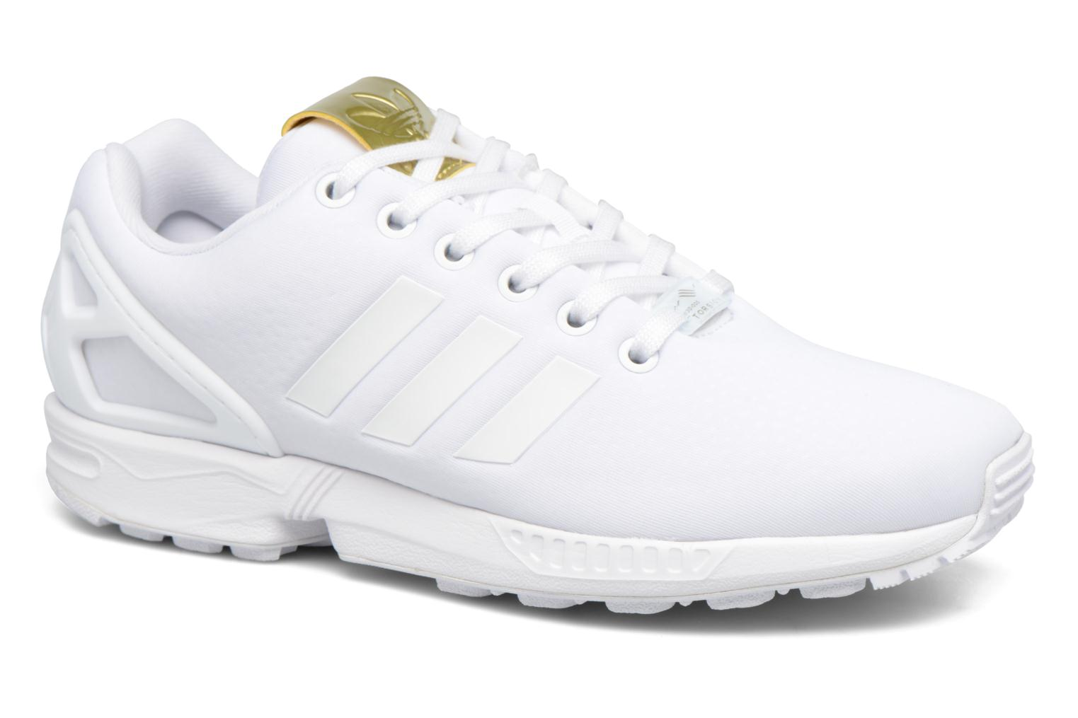 Baskets Adidas Originals Zx Flux W Blanc vue détail/paire