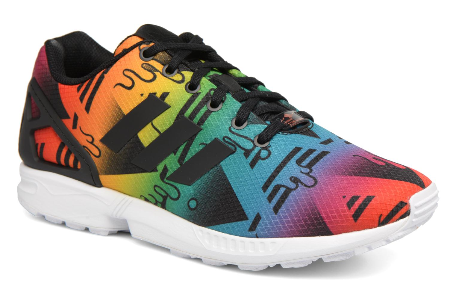 pretty nice 83468 fd39e ... low price deportivas adidas originals zx flux multicolor vista de  detalle par 4f6f5 a449c