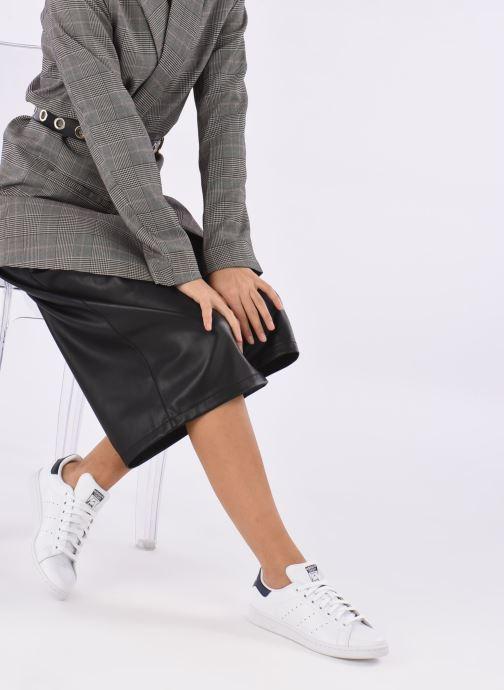 Baskets adidas originals Stan Smith W Blanc vue bas / vue portée sac