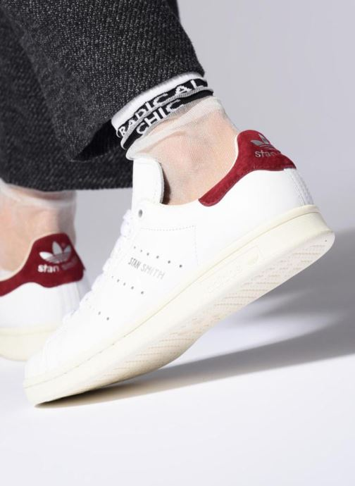 Trainers adidas originals Stan Smith W White view from underneath / model view