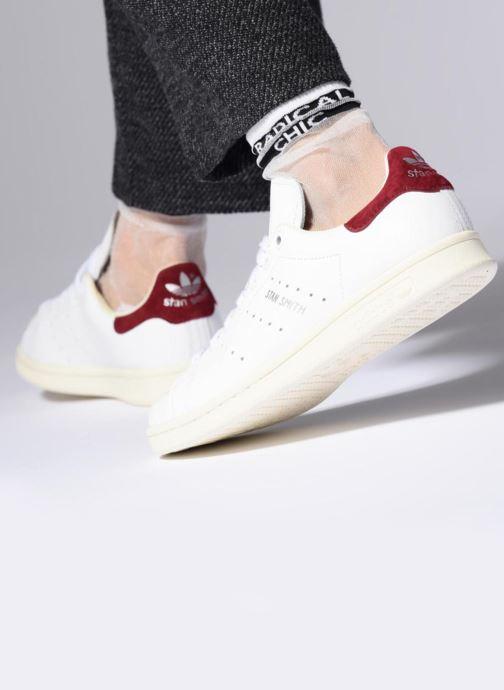Baskets adidas originals Stan Smith W Jaune vue bas / vue portée sac