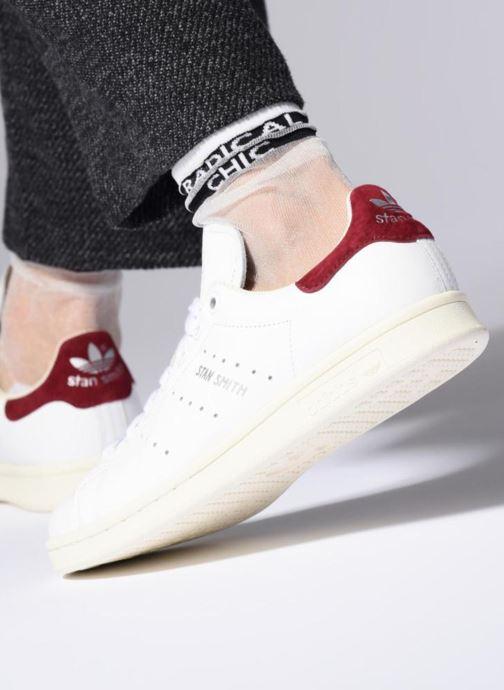 Baskets Adidas Originals Stan Smith W Bleu vue bas / vue portée sac