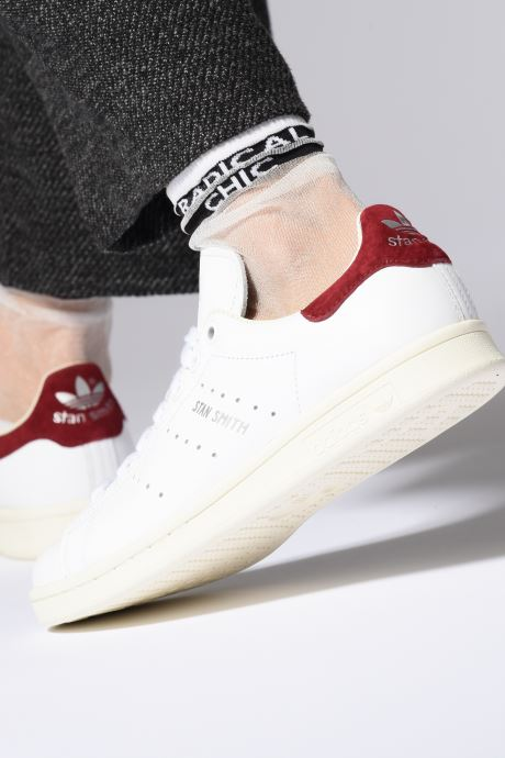 Trainers adidas originals Stan Smith W Pink view from underneath / model view