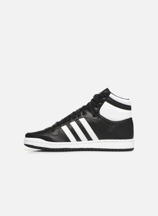 Sneakers adidas originals Top Ten Hi Zwart voorkant