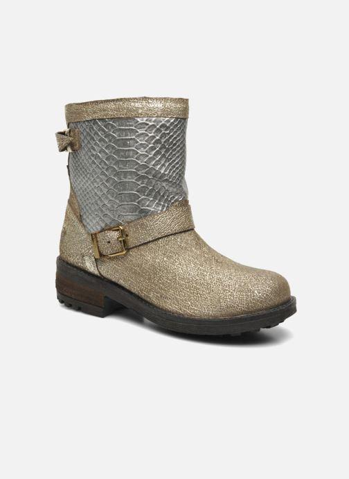 Bottines et boots Les Tropéziennes par M Belarbi Lolita Or et bronze vue détail/paire