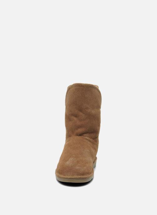 Bottines et boots Les Tropéziennes par M Belarbi Carmen Marron vue portées chaussures