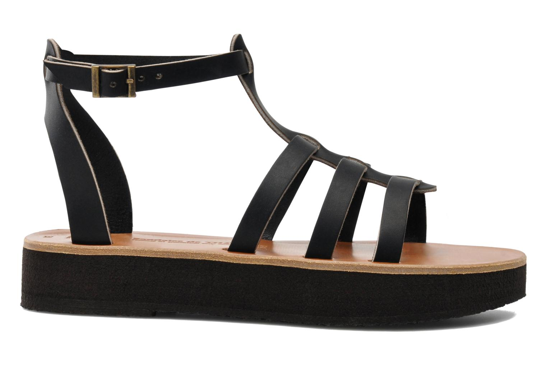 Sandales et nu-pieds Sandales de Thaddée Cesare 3 Noir vue derrière