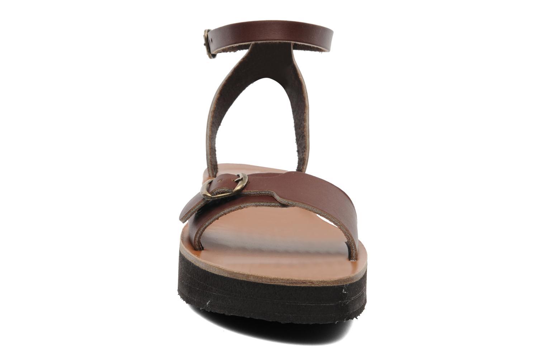 Sandales et nu-pieds Sandales de Thaddée Massada 3 Marron vue portées chaussures