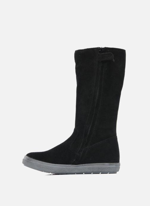 Stiefel Minibel HALEZIP schwarz ansicht von vorne