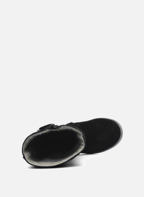 Stiefel Minibel HALEZIP schwarz ansicht von links