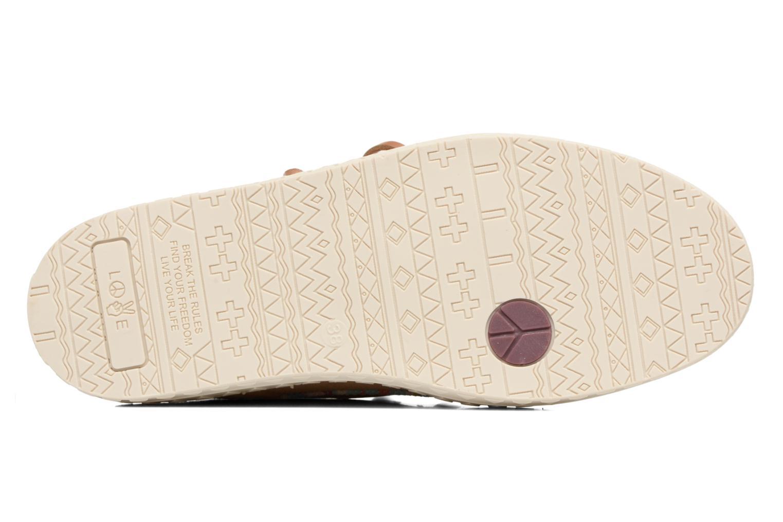 Chaussures à lacets Dolfie Dylan Beige vue haut