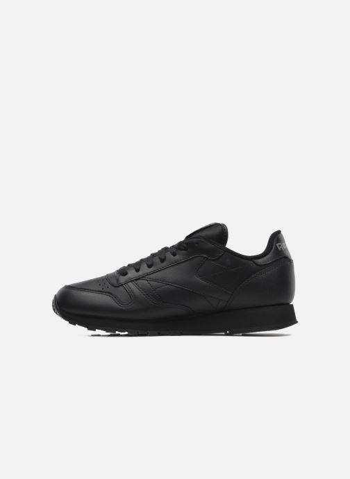 Sneaker Reebok Classic Leather schwarz ansicht von vorne