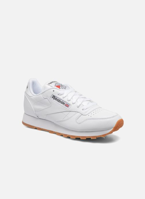 Baskets Reebok Classic Leather Blanc vue détail/paire
