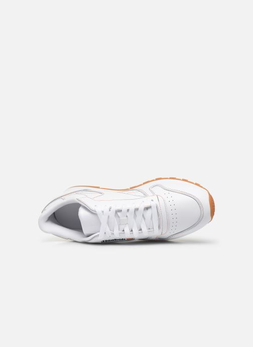 Baskets Reebok Classic Leather Blanc vue gauche