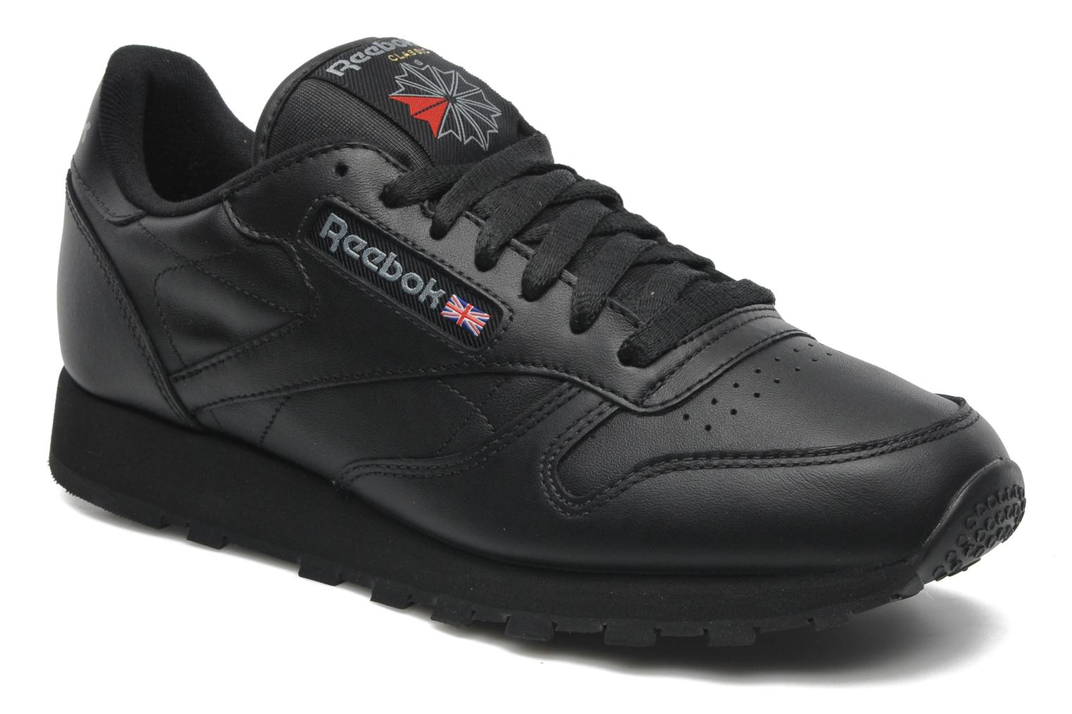 Baskets Reebok Classic Leather Noir vue détail/paire