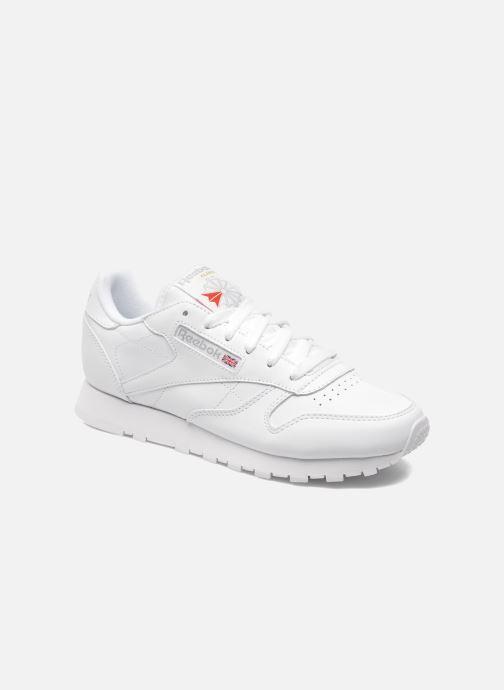 separation shoes 496fc bbf19 Sneakers Reebok Classic Leather W Hvid detaljeret billede af skoene