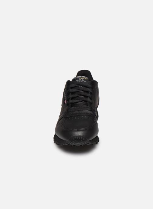 Sneaker Reebok Classic Leather W schwarz schuhe getragen